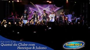 Foto Quintal da Clube com Guilherme & Santiago 247