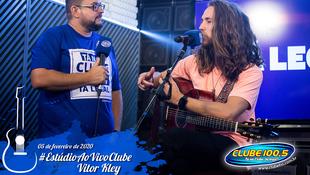 Foto Vitor Kley no Estúdio Ao Vivo Clube 24