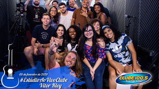 Foto Vitor Kley no Estúdio Ao Vivo Clube 27