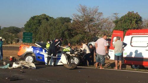 Motorista é socorrido em estado grave após acidente em rodovia da região
