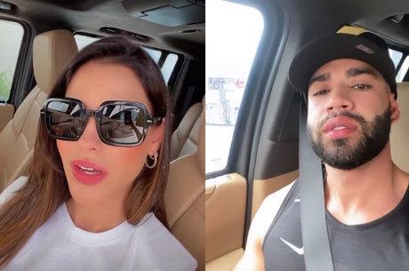 Gusttavo Lima e Andressa Suita posam em carros parecidos e fãs especulam volta