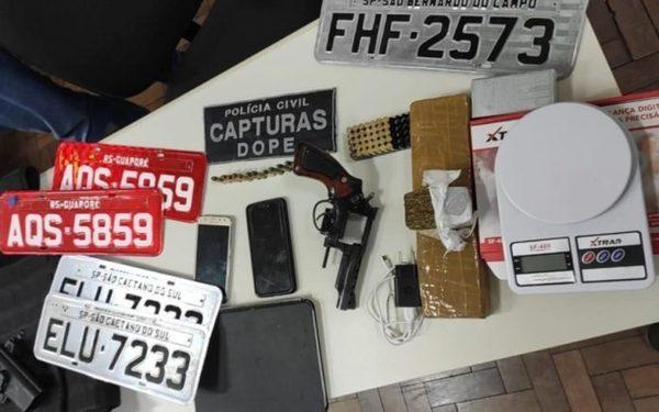 Suspeitos de envolvimento em roubos de cargas de medicamentos são presos durante operação policial