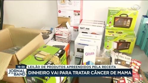 Barato e bom: leilão com produtos apreendidos ajuda a tratar câncer de mama