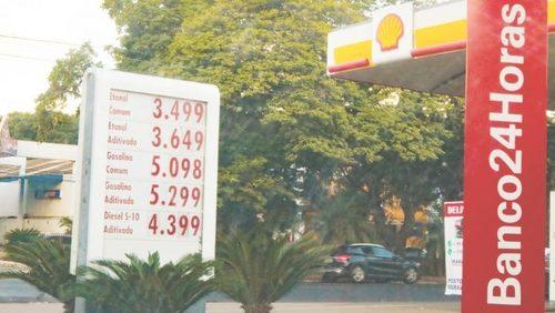 Etanol sobe para R$ 3,60 em RP