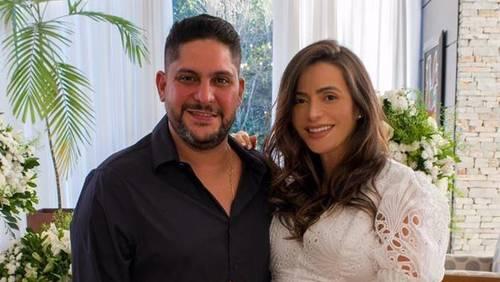 Jorge, da dupla com Mateus, se casa com Rachel Boscatti em cerimônia íntima