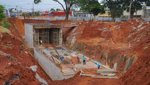 Concretagem do primeiro módulo do túnel da Presidente Vargas está na fase final