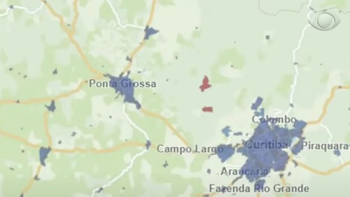 Mapa interativo mostra onde tem sinal de celular