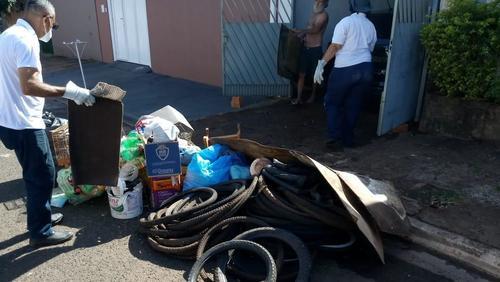 Arrastão da dengue recolhe 3,3 toneladas de material inservível na Zona Leste de Ribeirão Preto