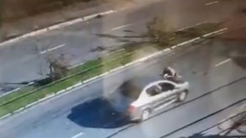 Em fuga de abordagem, motorista atropela e arrasta PM no capô em Florianópolis