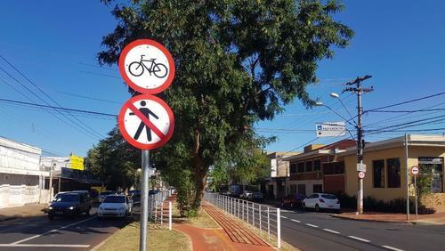Transerp implanta novas placas na ciclovia da avenida do Café