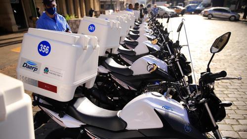 Daerp entrega 30 novas motocicletas e amplia a frota em 36%