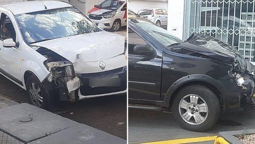Acidente entre dois carros deixa feridos no Centro de Ribeirão Preto