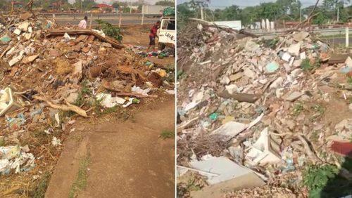 Descarte irregular de lixo em rua do Jardim Salgado Filho preocupa moradores
