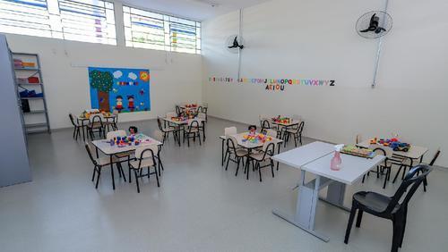 Escola de Educação Infantil Nagibe El Khouri Lian foi inaugurada nesta segunda-feira
