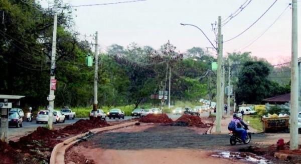 Duplicação de avenida será retomada no Ribeirão Verde