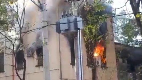 Incêndio atinge prédio de secretarias municipais em Ribeirão Preto
