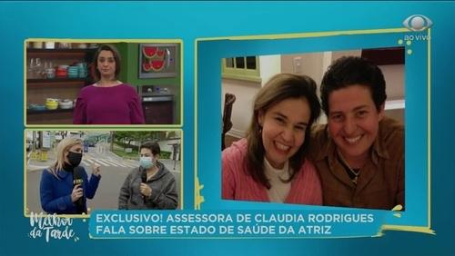 Claudia Rodrigues sofre acidente e fratura a coluna