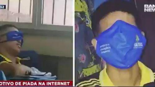Após virar piada na internet, governo do Amazonas vai trocar máscaras gigantes