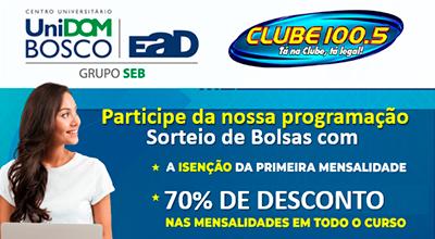 Bolsa de estudo 70% - UniDomBosco